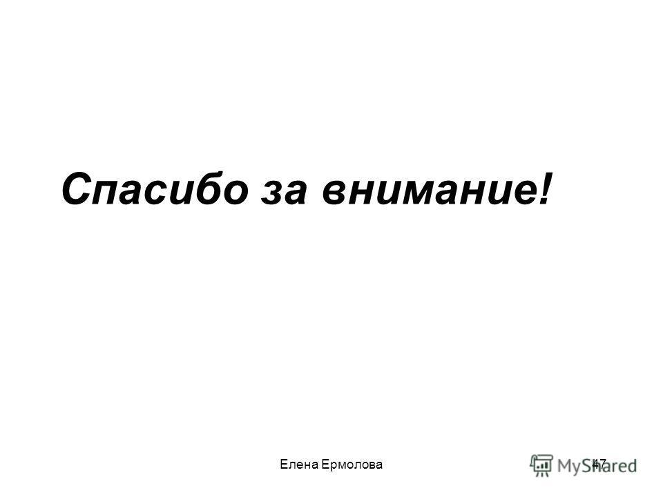 Спасибо за внимание! 47Елена Ермолова