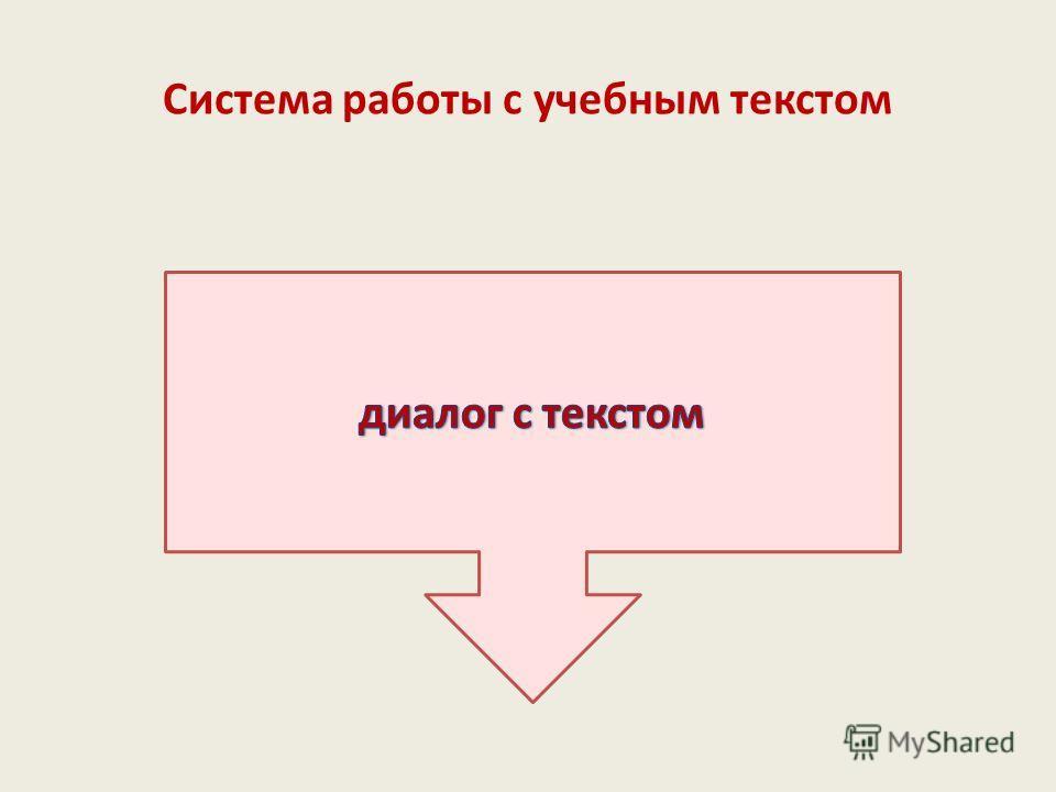 Система работы с учебным текстом
