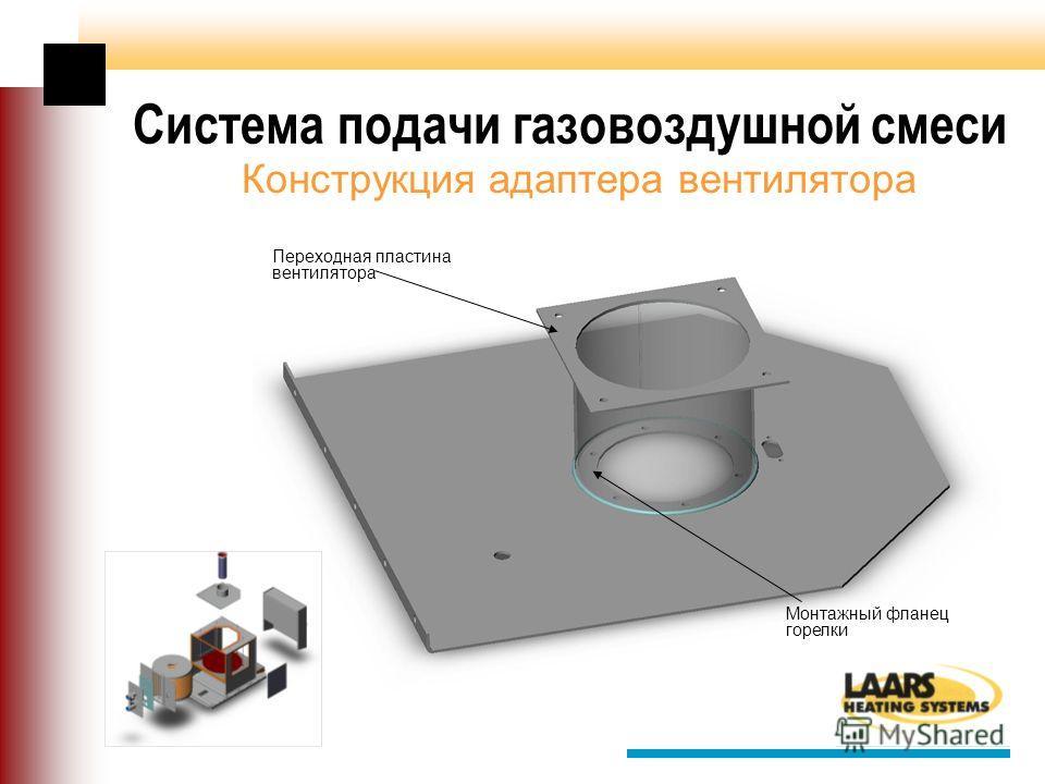 Система подачи газовоздушной смеси Конструкция адаптера вентилятора Переходная пластина вентилятора Монтажный фланец горелки