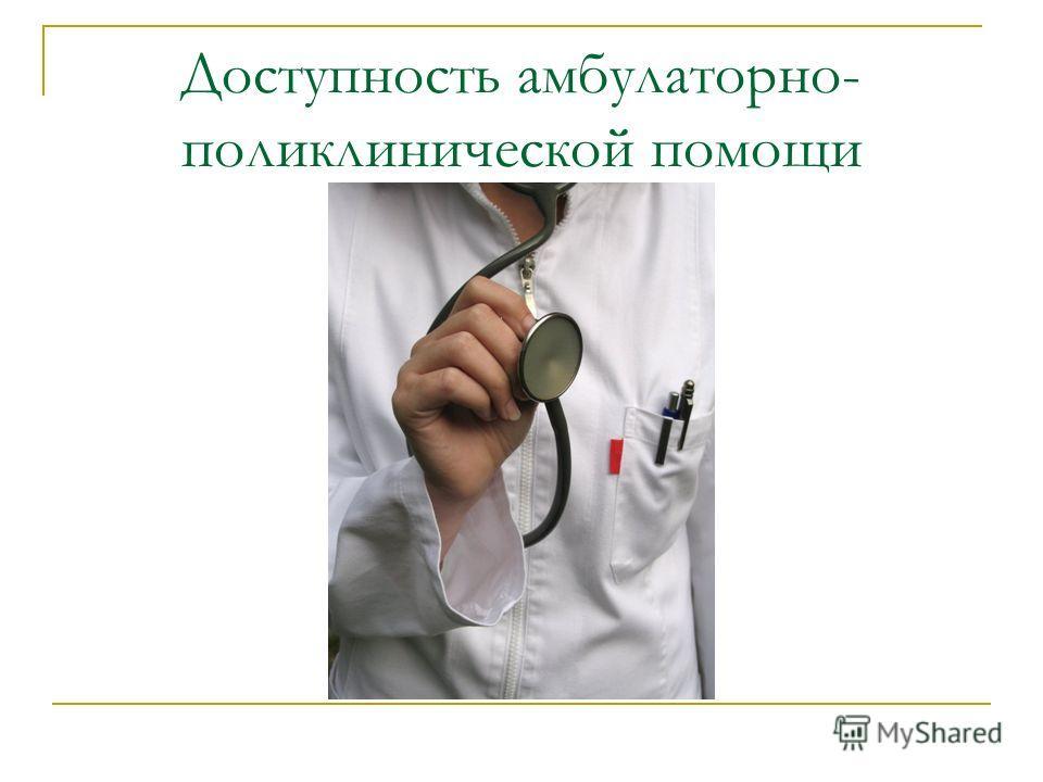 Доступность амбулаторно- поликлинической помощи