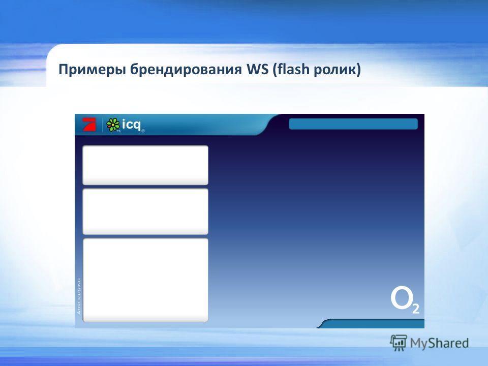Примеры брендирования WS (flash ролик)