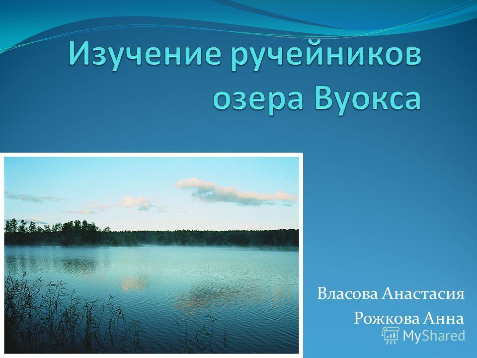Власова Анастасия Рожкова Анна
