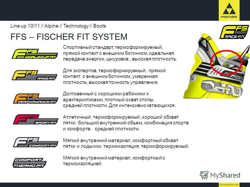 Спортивный стандарт, термоформируемый, прямой контакт с внешним ботинком, идеальная передача энергии, шнуровка., высокая плотность. Для экспертов, термоформируемый, прямой контакт с внешним ботинком, умеренная плотность, высокая точность управления.