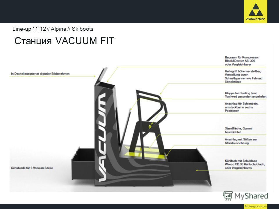 Станция VACUUM FIT Line-up 11I12 // Alpine // Skiboots