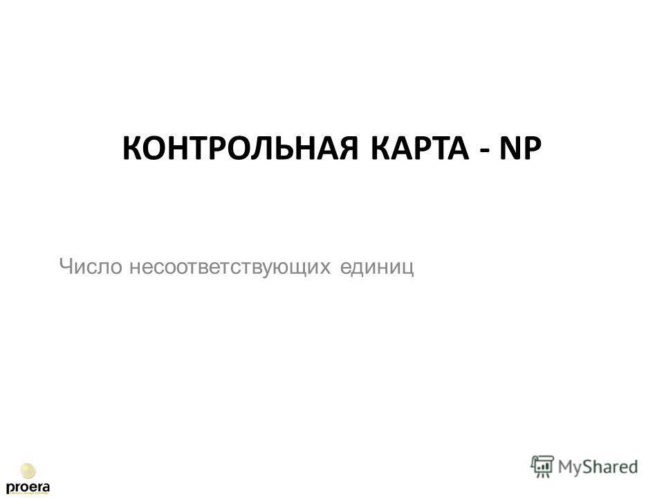 Число несоответствующих единиц КОНТРОЛЬНАЯ КАРТА - NP