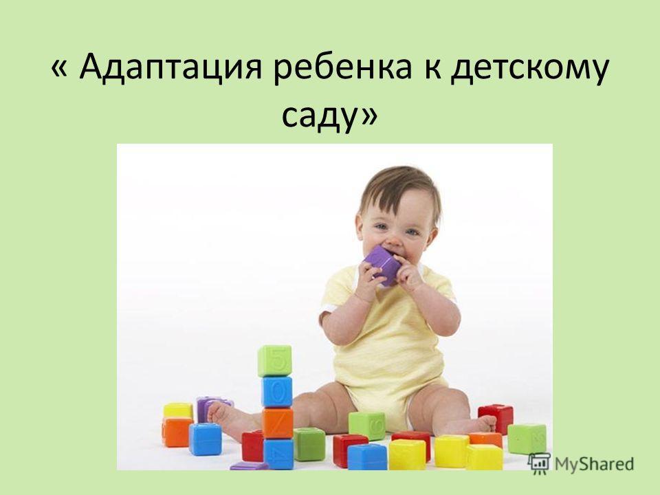 « Адаптация ребенка к детскому саду»