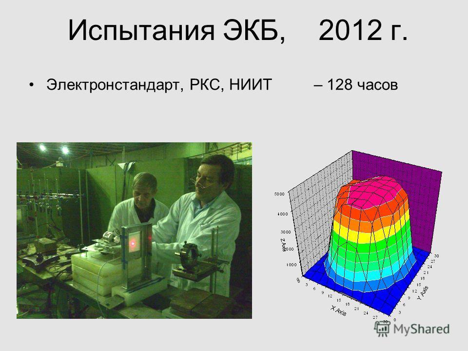 Испытания ЭКБ, 2012 г. Электронстандарт, РКС, НИИТ – 128 часов