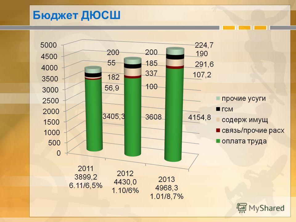 Бюджет ДЮСШ