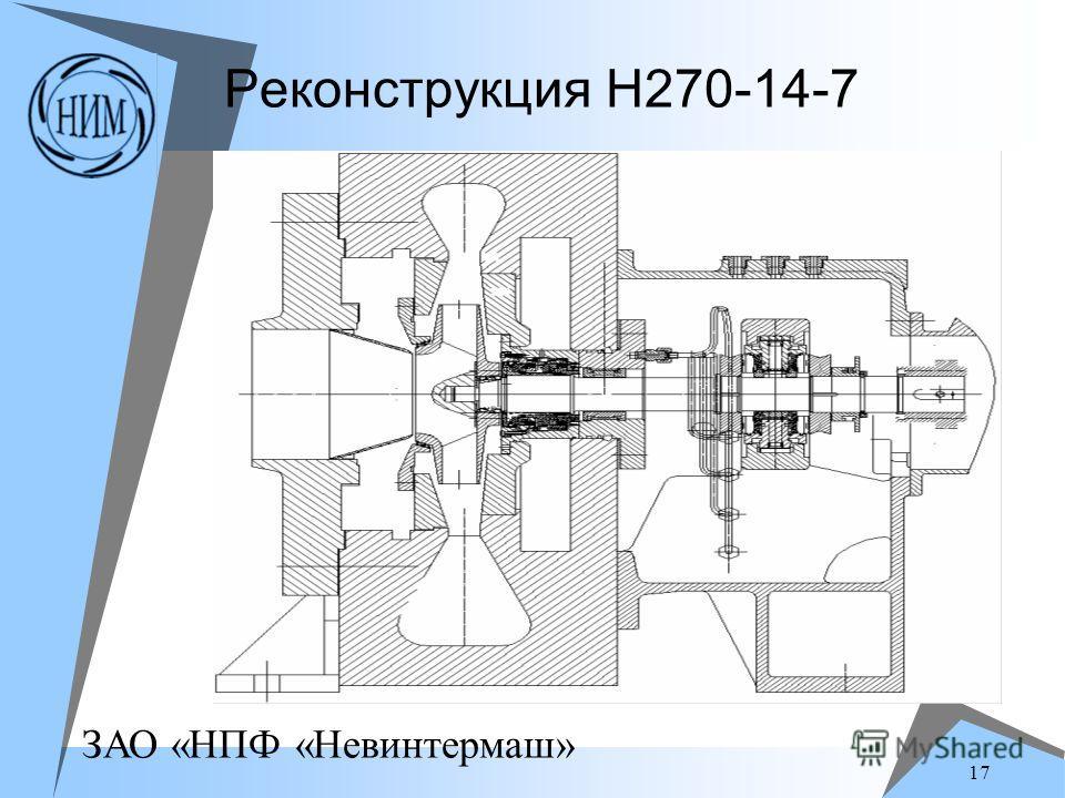 ЗАО «НПФ «Невинтермаш» 17 Реконструкция Н270-14-7