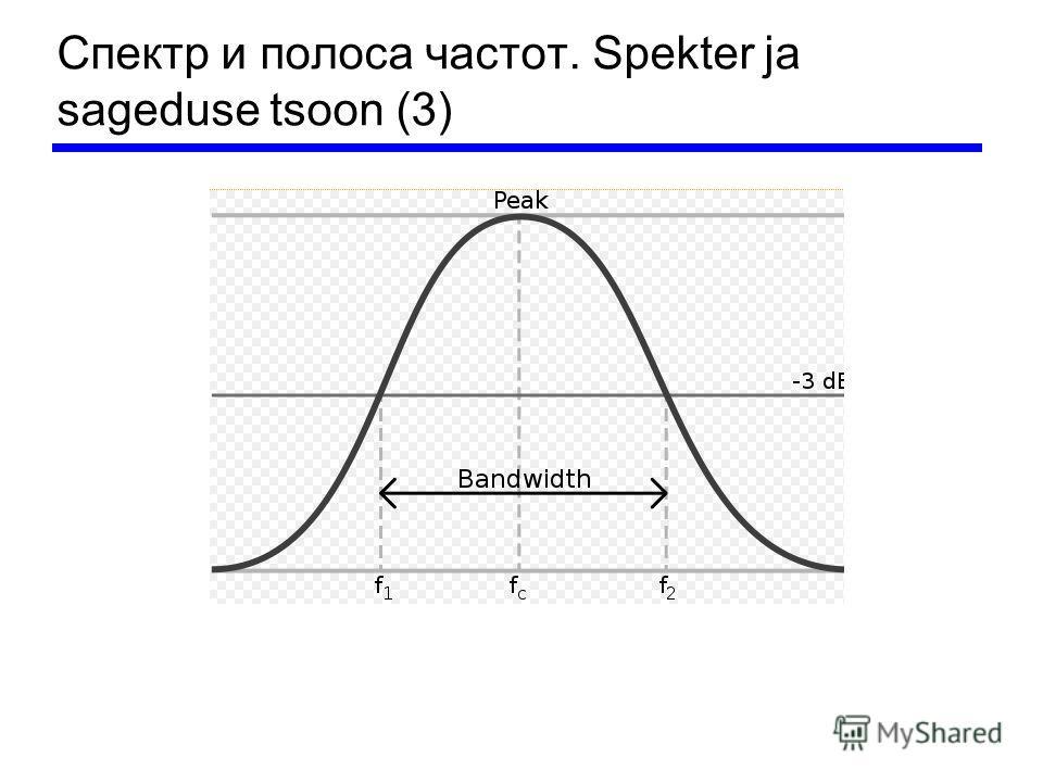 Спектр и полоса частот. Spekter ja sageduse tsoon (3)