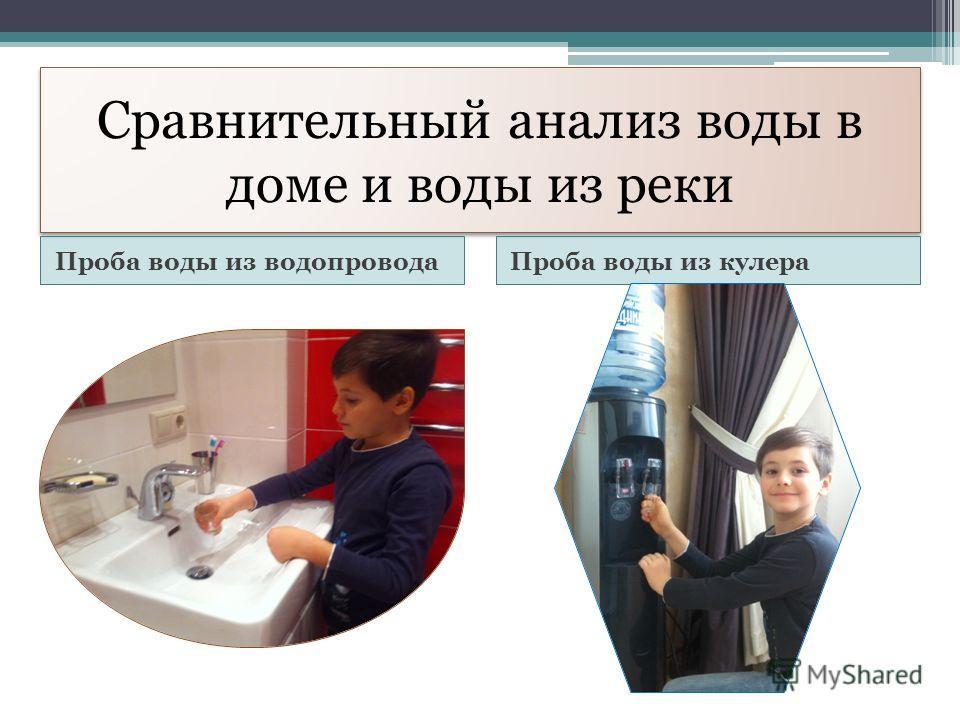 Сравнительный анализ воды в доме и воды из реки Проба воды из водопроводаПроба воды из кулера