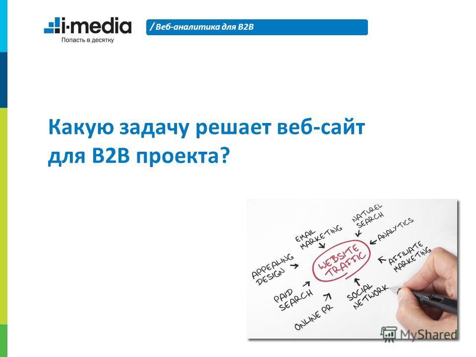 / Веб-аналитика для B2B 10 Какую задачу решает веб-сайт для B2B проекта?