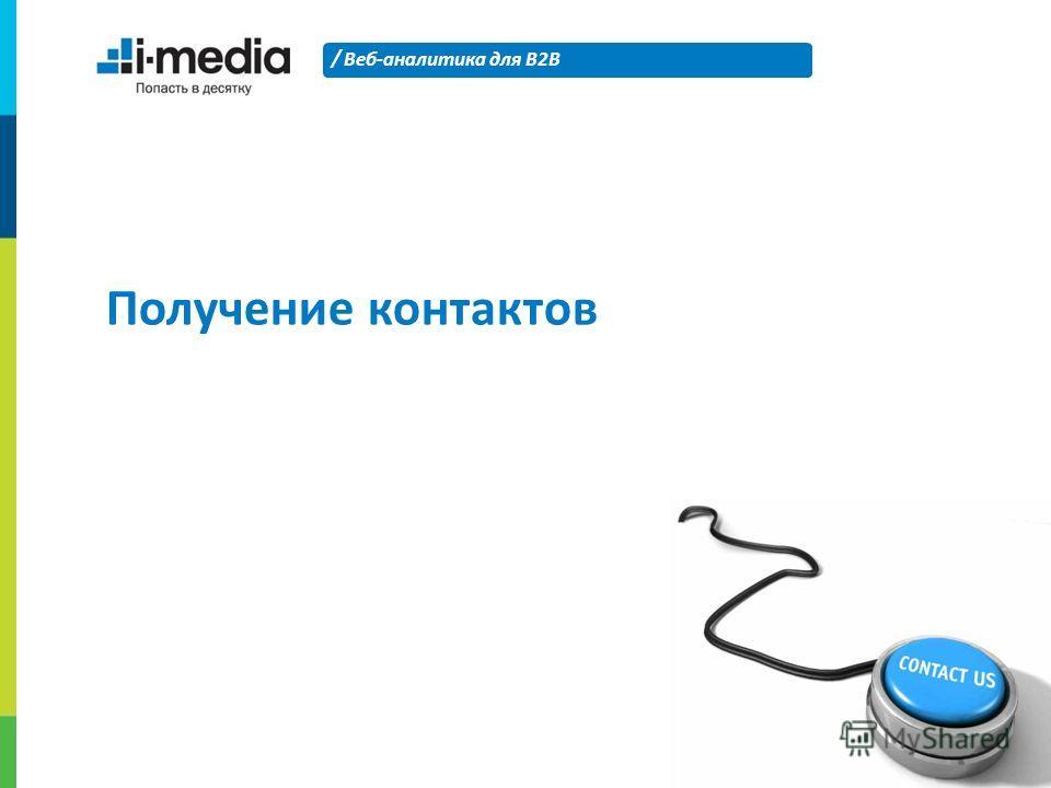 / Веб-аналитика для B2B 23 Получение контактов
