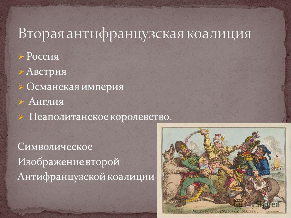 Россия Австрия Османская империя Англия Неаполитанское королевство. Символическое Изображение второй Антифранцузской коалиции 17