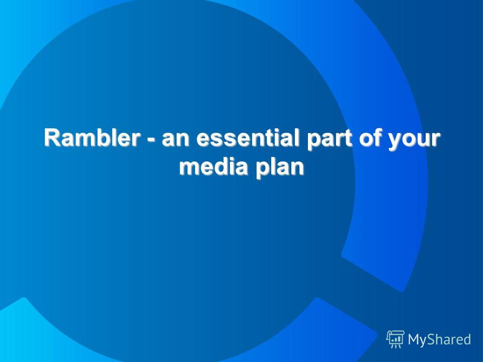 Rambler - an essential part of your media plan