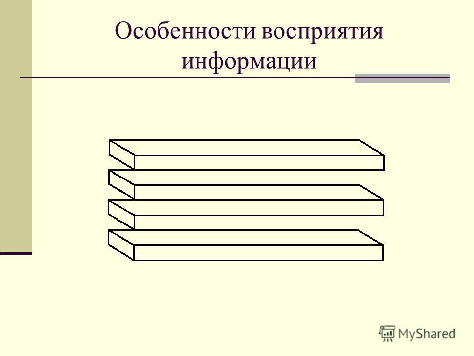 Особенности восприятия информации