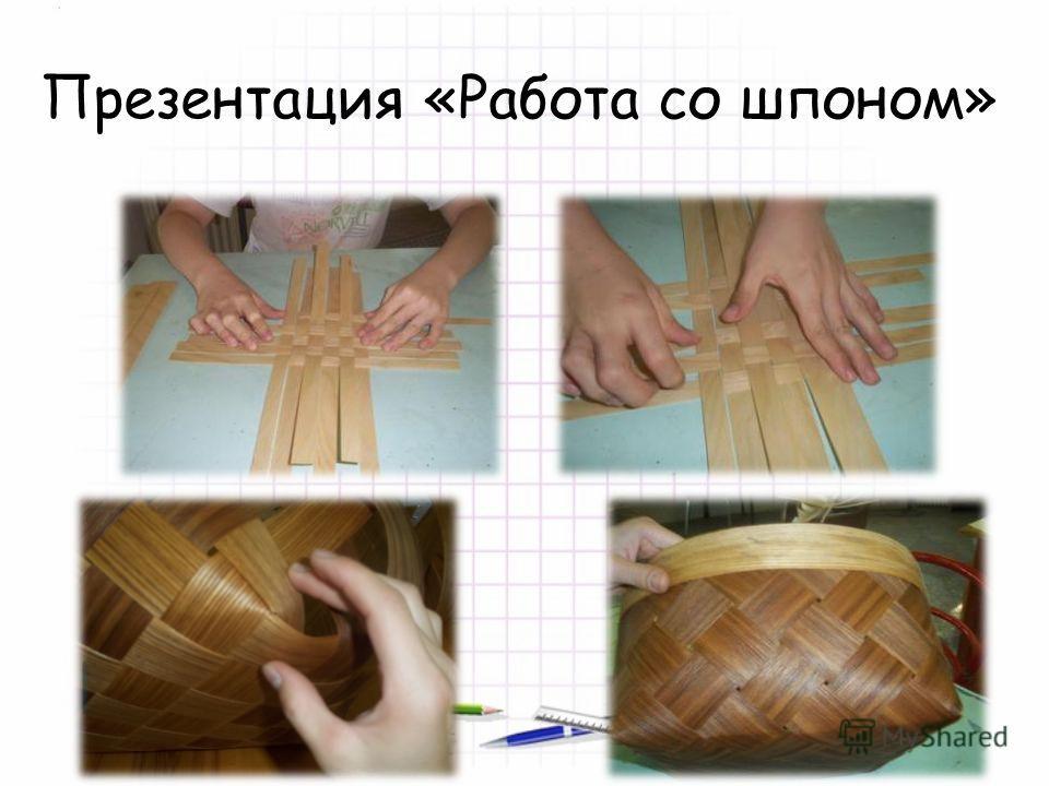 Презентация «Работа со шпоном»