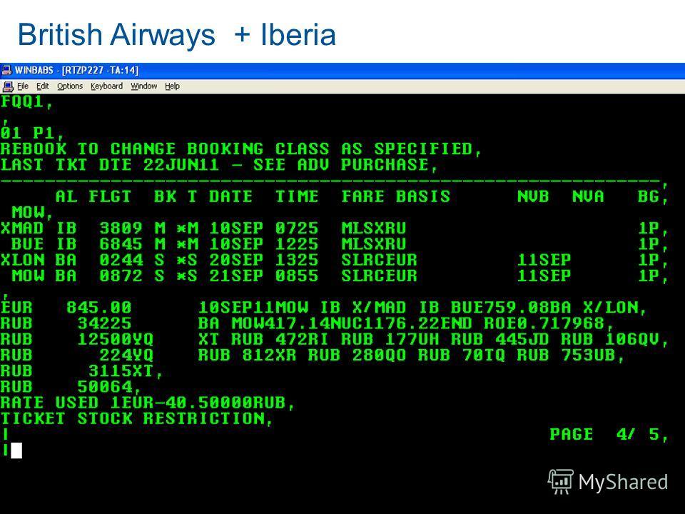 British Airways + Iberia