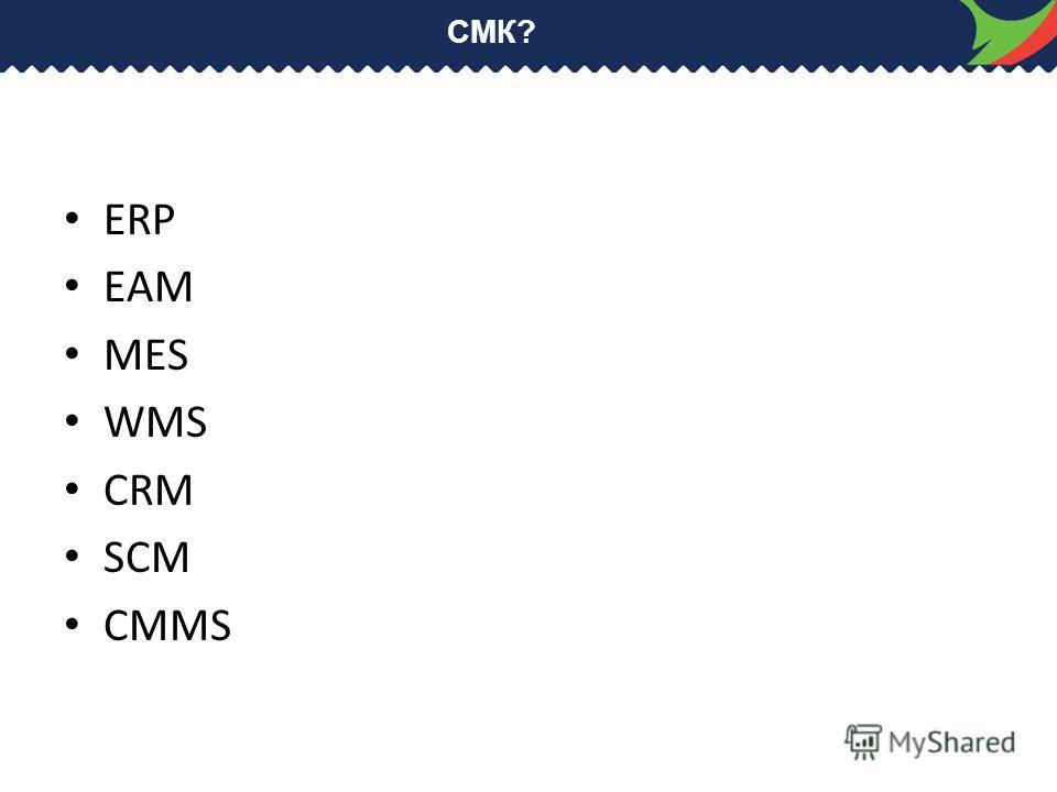 СМК? ERP EAM MES WMS CRM SCM CMMS