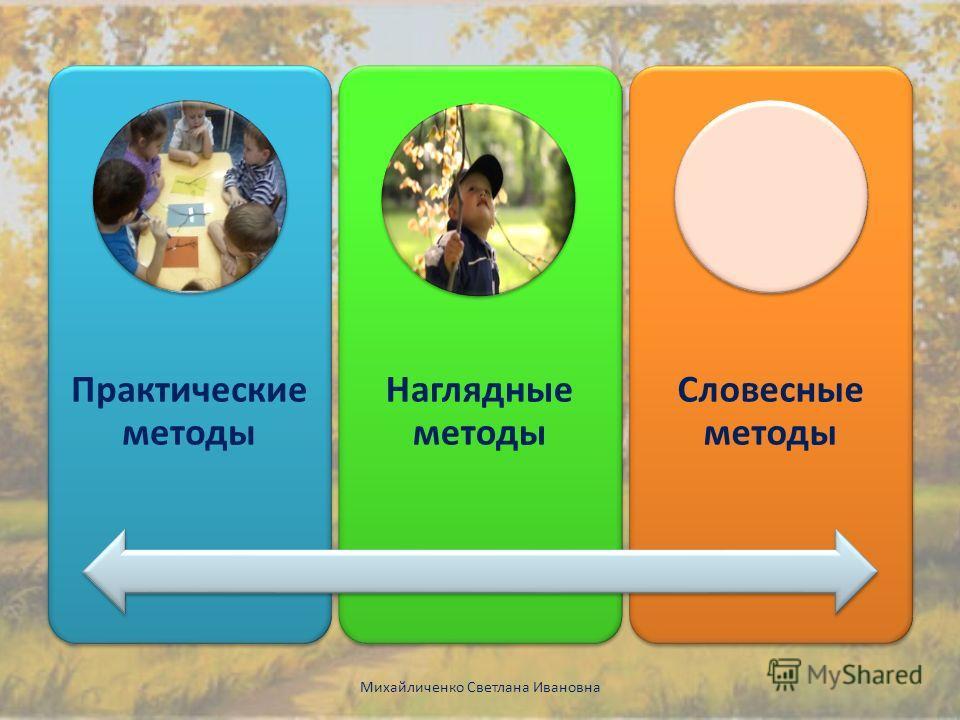 Практические методы Наглядные методы Словесные методы Михайличенко Светлана Ивановна