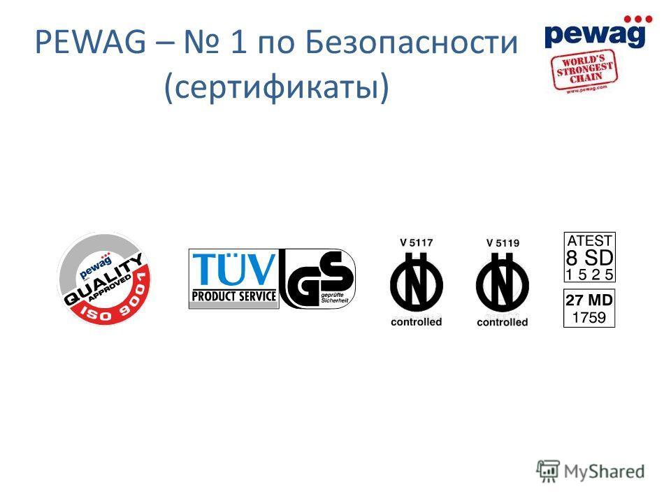 PEWAG – 1 по Безопасности (сертификаты)