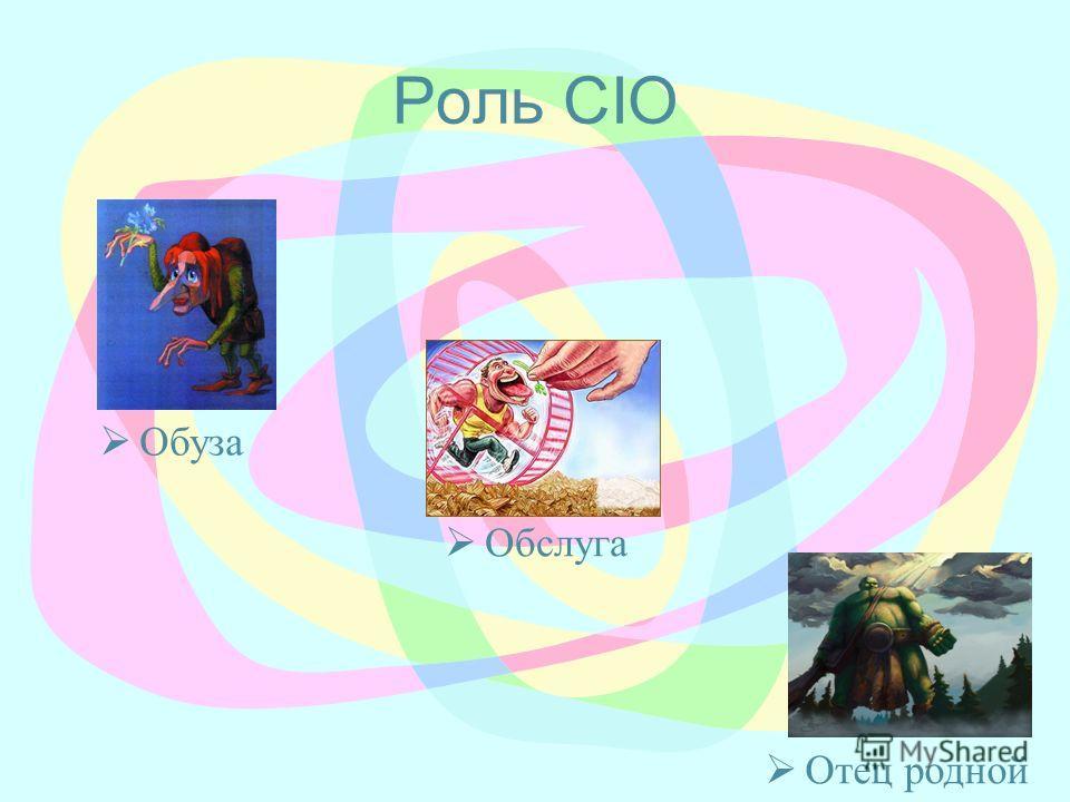 Роль CIO Обуза Обслуга Отец родной