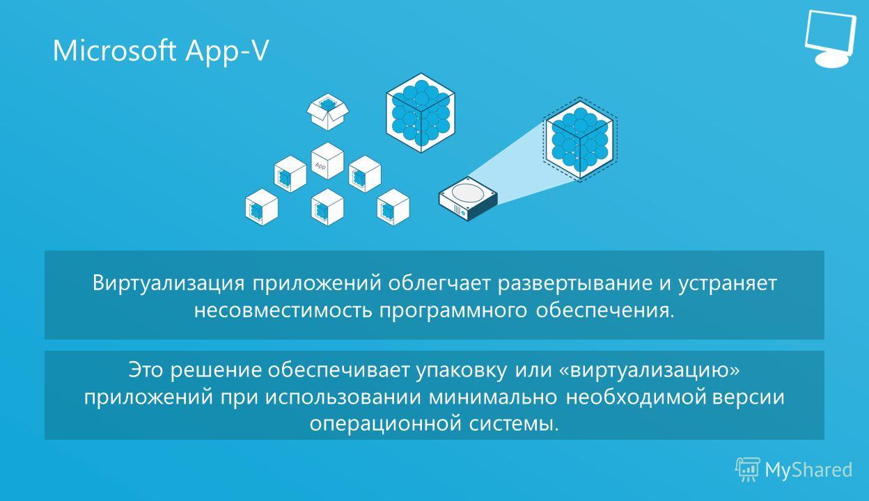 15 Microsoft App-V Виртуализация приложений облегчает развертывание и устраняет несовместимость программного обеспечения. Это решение обеспечивает упаковку или «виртуализацию» приложений при использовании минимально необходимой версии операционной си