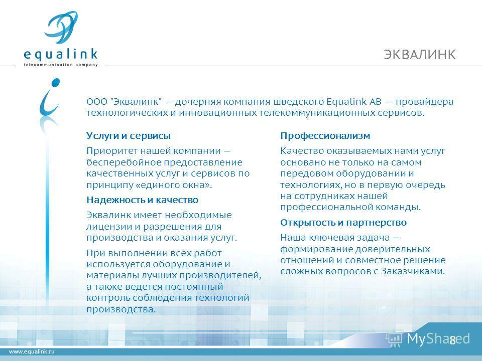 www.equalink.ru ЭКВАЛИНК ООО