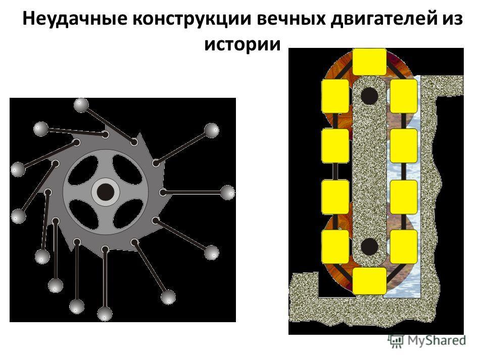 Неудачные конструкции вечных двигателей из истории
