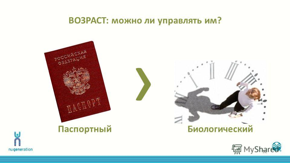 ВОЗРАСТ: можно ли управлять им? Паспортный Биологический 11