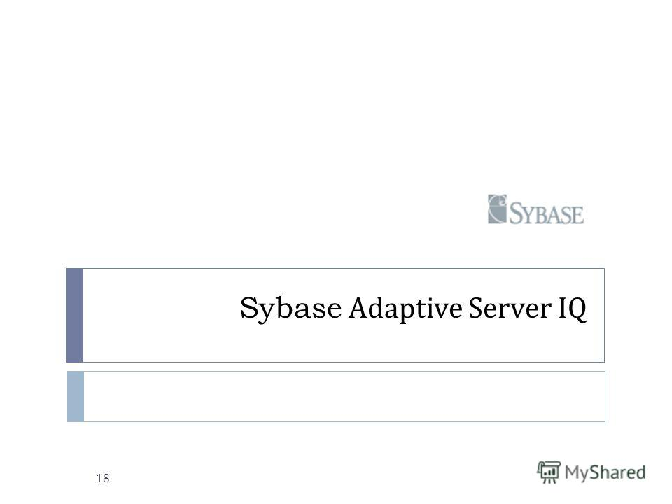 Sybase Adaptive Server IQ 18