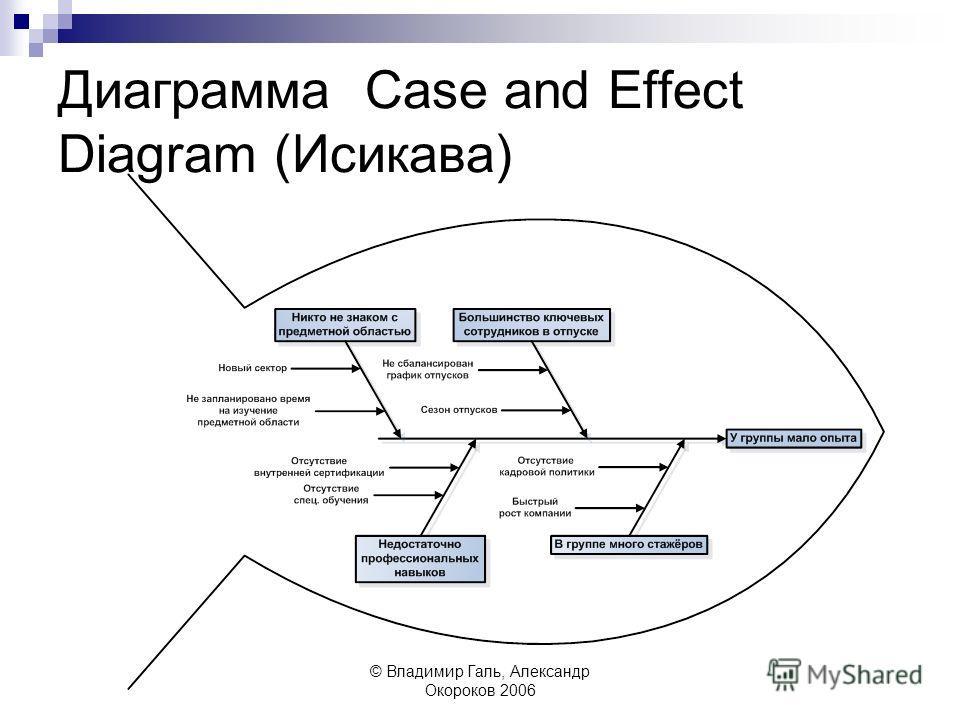 © Владимир Галь, Александр Окороков 2006 Диаграмма Case and Effect Diagram (Исикава)