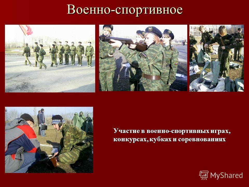Военно-спортивное Участие в военно-спортивных играх, конкурсах, кубках и соревнованиях