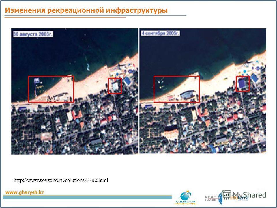 Изменения рекреационной инфраструктуры http://www.sovzond.ru/solutions/3782.html