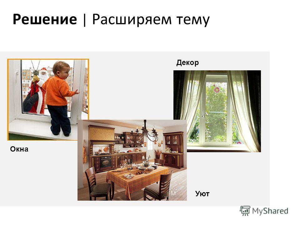 Решение | Расширяем тему Окна Декор Уют
