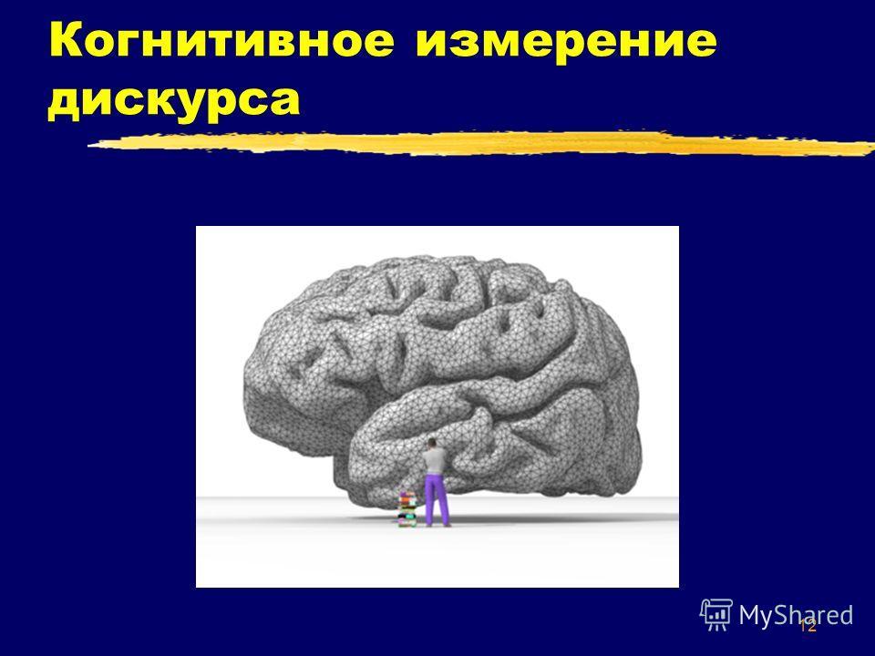 12 Когнитивное измерение дискурса