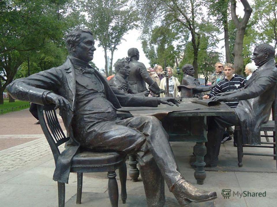 Скульптурная композиция «Зодчие».