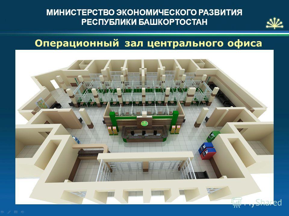 МИНИСТЕРСТВО ЭКОНОМИЧЕСКОГО РАЗВИТИЯ РЕСПУБЛИКИ БАШКОРТОСТАН Операционный зал центрального офиса