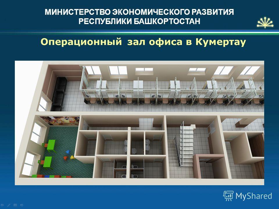 МИНИСТЕРСТВО ЭКОНОМИЧЕСКОГО РАЗВИТИЯ РЕСПУБЛИКИ БАШКОРТОСТАН Операционный зал офиса в Кумертау