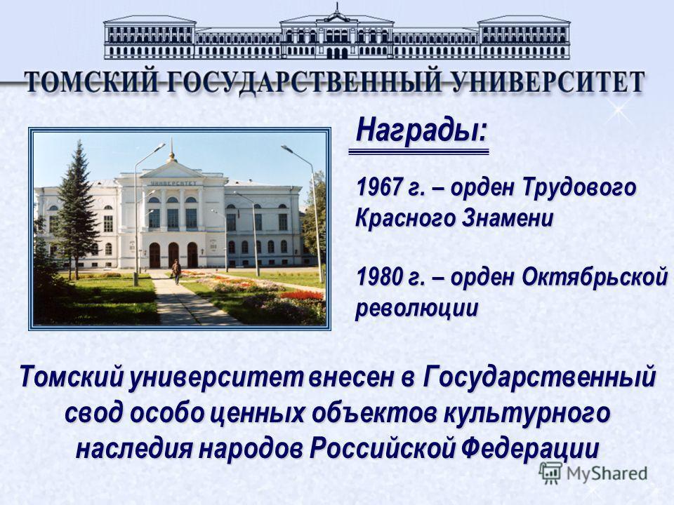 Томский университет является участником : Президентской программы по подготовке управленческих кадров Программы Национального фонда подготовки кадров Поддержка инноваций в высшем образовании Федеральной программы Развитие образования в России Фонд Со