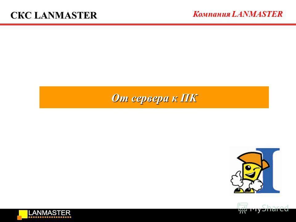 Компания LANMASTER СКС LANMASTER От сервера к ПК