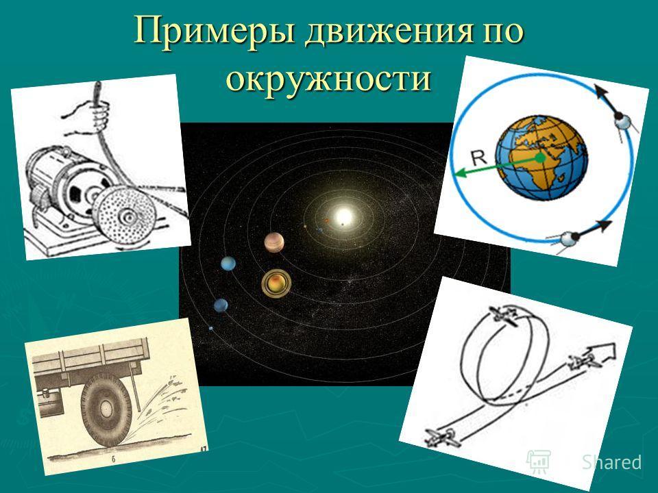 Примеры движения по окружности