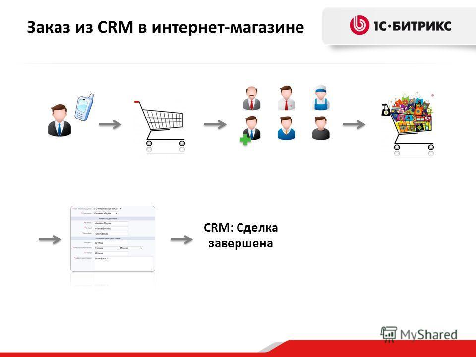Заказ из CRM в интернет-магазине CRM: Сделка завершена