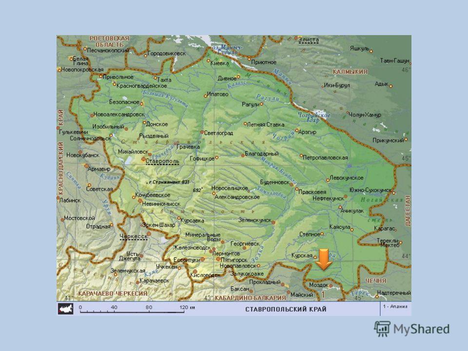 ТЕРЕК Берёт начало на склоне Главного Кавказского хребта, из ледника на высоте 2 713 м над уровнем моря. Длина реки 623 км.