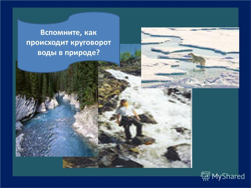 Вспомните, как происходит круговорот воды в природе?