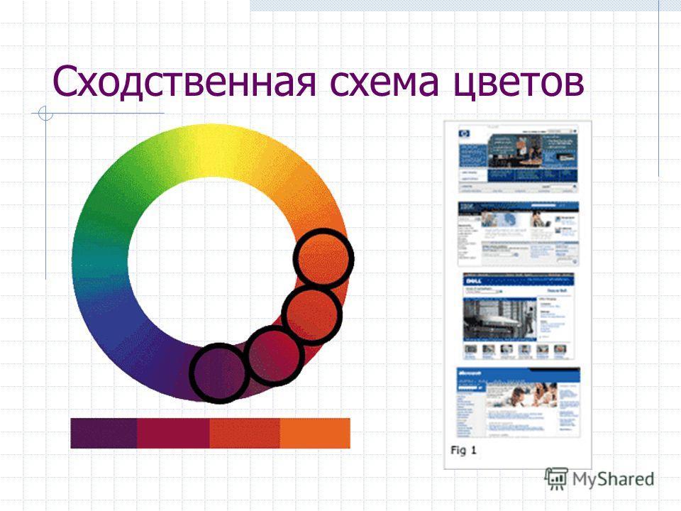Сходственная схема цветов