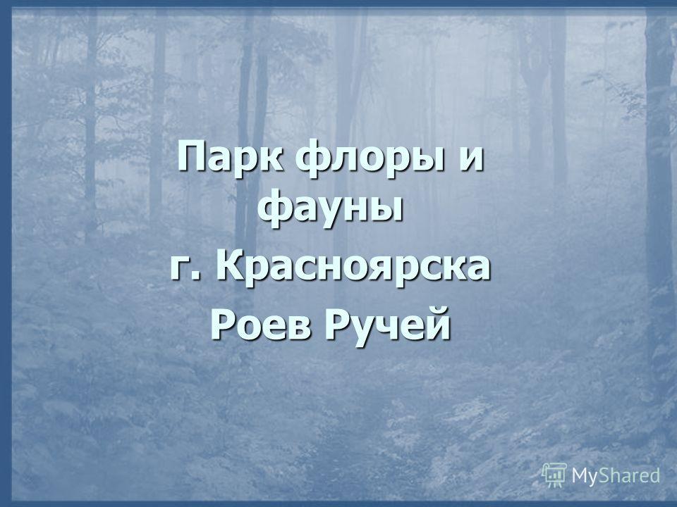 Парк флоры и фауны г. Красноярска Роев Ручей