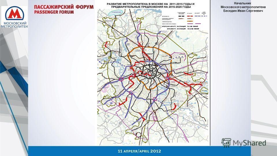 Начальник Московского метрополитена Беседин Иван Сергеевич
