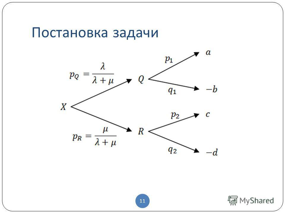 Постановка задачи 11