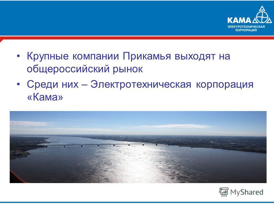 Крупные компании Прикамья выходят на общероссийский рынок Среди них – Электротехническая корпорация «Кама»